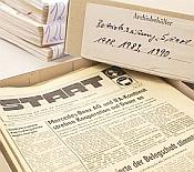 Betriebszeitung Start im Stadtarchiv Ludwigsfelde